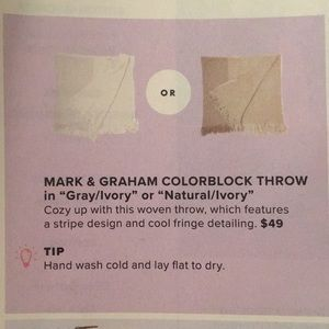 mark & graham Accessories - NWT Mark & Graham Colorblock Throw